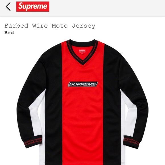 01bdf6b769 Supreme Shirts | Barbed Wire Moto Jersey | Poshmark
